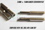 3.8mm & 4.5mm Gamebit Screwdriver bits (One Pair) for NES, SNES, N64, Game Boy