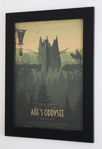 Vintage Style A3 Poster - Abe's Oddysee - Paramonia