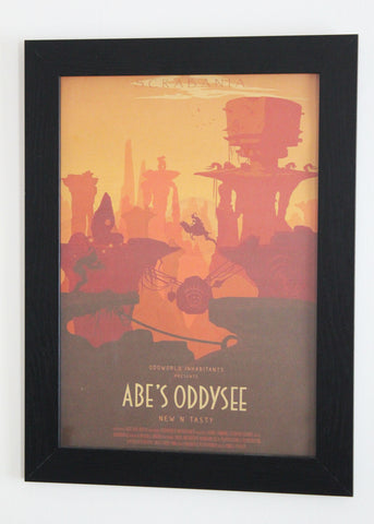 Vintage Style A3 Poster - Abe's Oddysee - Scrabania