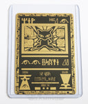 Ancient Mew Black and Gold Metal Pokemon Card