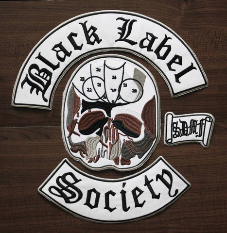Black Label Society - Large 4 Piece Embroidered Patch Set