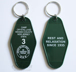 Camp Crystal Lake Friday the 13th Double-Sided Keyring Fob
