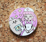Chansey and Nurse Joy - Pokemon Pin Badge