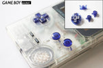 Game Boy Pocket Replacement Buttons - Clear Dark Blue