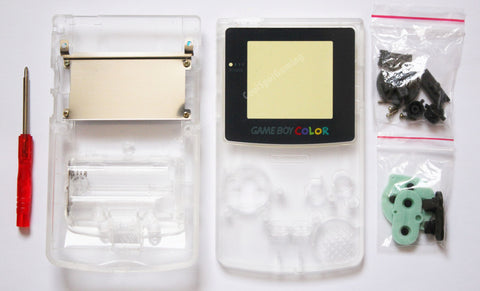 Game Boy Colour Replacement Housing Shell Kit - Clear
