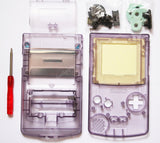 Game Boy Colour Replacement Housing Shell Kit - Transparent/Clear Purple