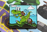 Croc 'Forest Island' - Exclusive Pin Badge