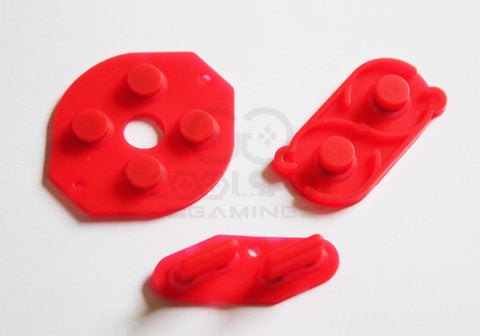 Game Boy DMG Conductive Rubber Silicone Buttons - Red