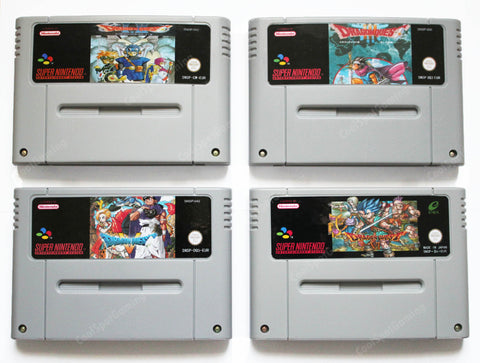 Dragon Quest Complete SNES Compilation - English Translations - PAL/EUR