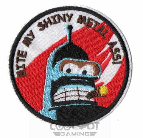"Futurama Bender ""Bite My Shiny Metal Ass"" Patch"