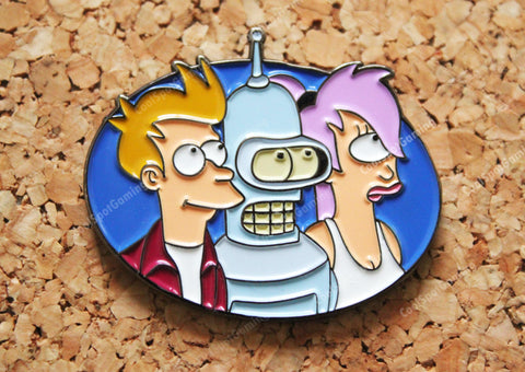 Futurama Fry, Bender & Leela Pin Badge