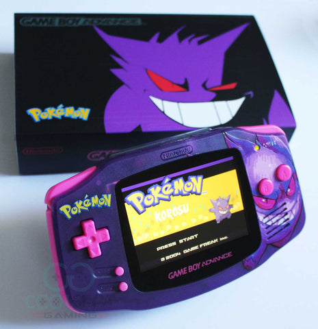 Game Boy Advance IPS V2 Console Gengar Edition + Presentation Box