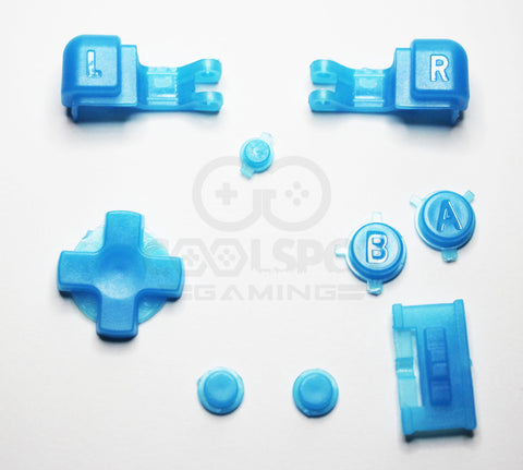 Game Boy Advance SP (GBA SP) Replacement Full Button Kit - Light Blue