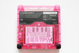 Game Boy Advance SP IPS V2 Console - Clear Hot Pink (+ Adjustable Brightness)