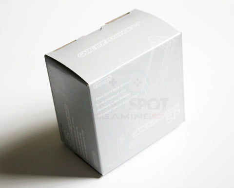 Game Boy Advance SP Replacement Empty Console Box - Silver