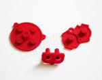Game Boy Advance (GBA) Replacement Conductive Buttons - Red