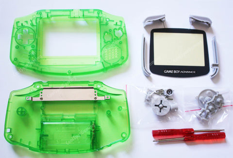 Game Boy Advance (GBA) Replacement Housing Kit - Clear Green