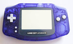 Game Boy Advance (GBA) Complete Replacement Housing Kit - Clear Midnight Blue