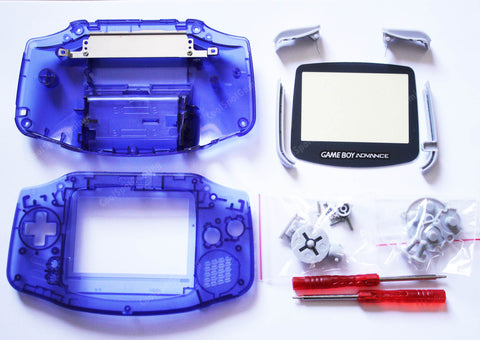 Game Boy Advance (GBA) Replacement Housing Kit - Clear Midnight Blue
