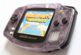 Game Boy Advance IPS V2 Console - Clear Purple and Black (+Adjustable Brightness)