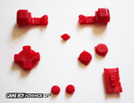 Game Boy Advance SP (GBA SP) Replacement Full Button Kit - Red