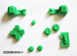 Game Boy Advance SP (GBA SP) Replacement Full Button Kit - Green