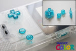 Game Boy Colour GBC Replacement Buttons - Clear Electric Blue