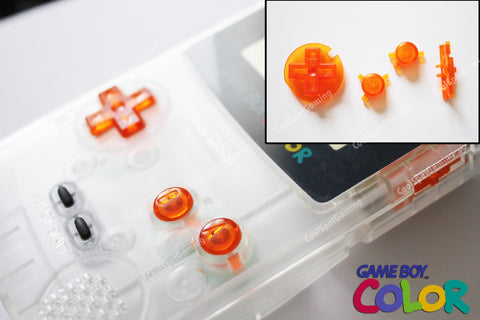 Game Boy Colour GBC Replacement Buttons - Clear Orange
