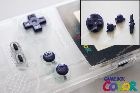 Game Boy Colour GBC Replacement Buttons - Deep Purple
