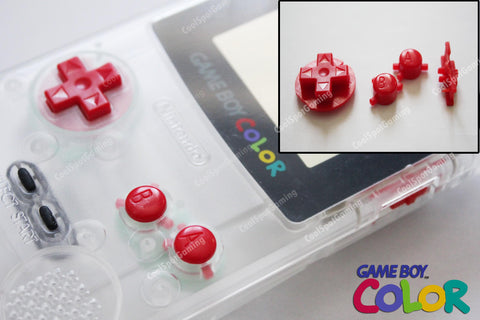 Game Boy Colour GBC Replacement Buttons - Red