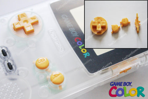 Game Boy Colour GBC Replacement Buttons - Yellow