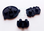 Game Boy Advance (GBA) Replacement Conductive Buttons - Black