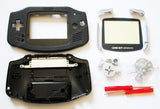 Game Boy Advance (GBA) Complete Replacement Housing Kit - Black