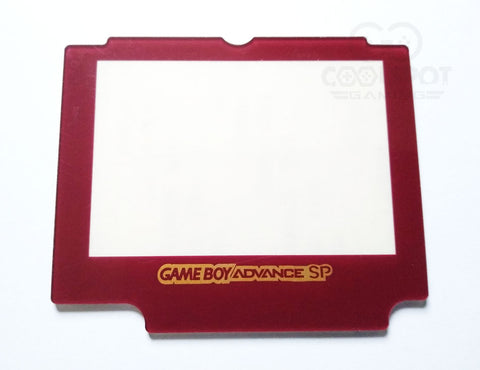 Game Boy Advance SP (GBA SP) Red Plastic Lens