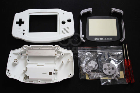 Game Boy Advance (GBA) Complete Replacement Housing Kit - White