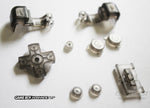 Game Boy Advance SP (GBA SP) Replacement Full Button Kit - Clear Smoke Black