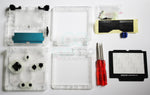 Game Boy Advance SP (GBA SP) Replacement Housing Shell Kit - Clear Transparent
