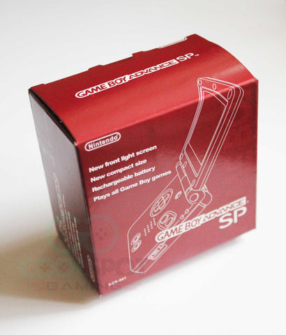 Game Boy Advance SP Replacement Empty Console Box - Red