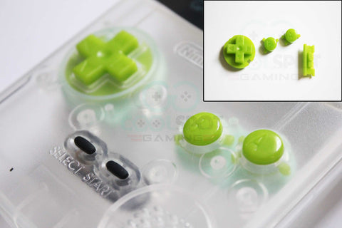Game Boy Colour GBC Replacement Buttons - Lime Green