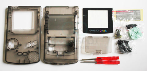 Game Boy Colour Replacement Housing Shell Kit - Clear Smoke Black