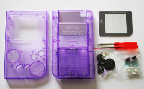 Original DMG Game Boy Replacement Housing Shell Kit - Clear Purple