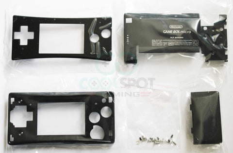 Game Boy Micro Complete Replacement Housing Kit - Black