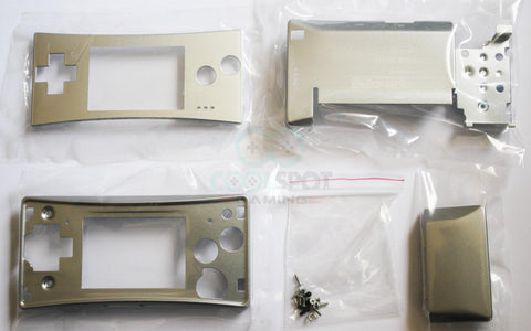 Game Boy Micro Complete Replacement Housing Kit - Silver