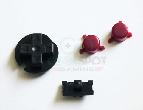 Game Boy Pocket Replacement Buttons - Black and Purple (DMG Style)
