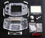 Game Boy Advance (GBA) Complete Replacement Housing Kit - Clear Transparent