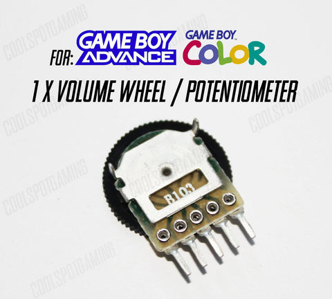 Replacement Volume Wheel/Potentiometer for Game Boy Advance & Colour