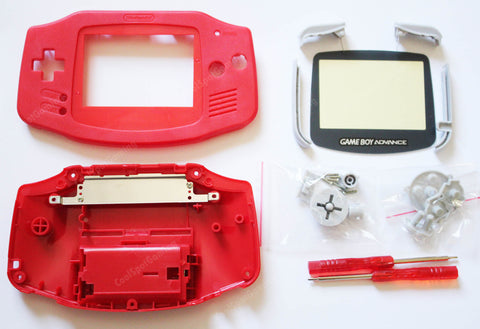 Game Boy Advance (GBA) Replacement Housing Kit - Red