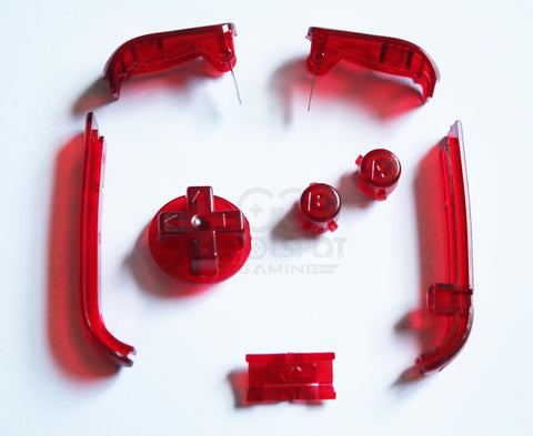 Game Boy Advance (GBA) Replacement Buttons - Clear Red