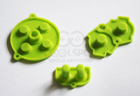 Game Boy Advance (GBA) Replacement Conductive Buttons - Green
