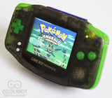 Game Boy Advance IPS V2 Console - Clear Black and Green (+Adjustable Brightness)